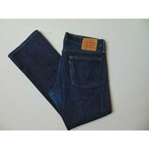 Levis 514 36 x 32 Straight Fit Blue Jeans Denim
